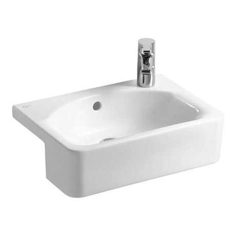 Ideal Standard Concept Space Cube 50cm 1TH Semi-Countertop Basin (Right Hand)