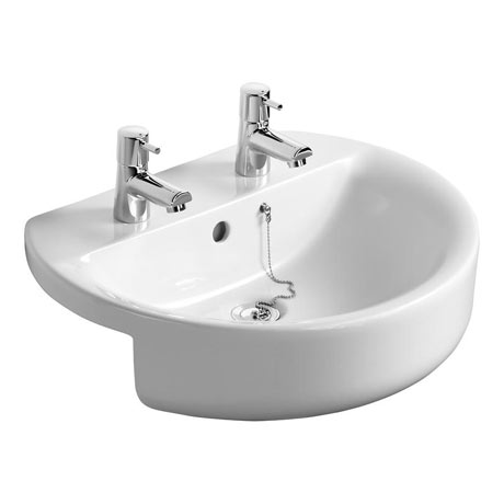 Ideal Standard Concept Sphere 55cm 2TH Semi Countertop Basin