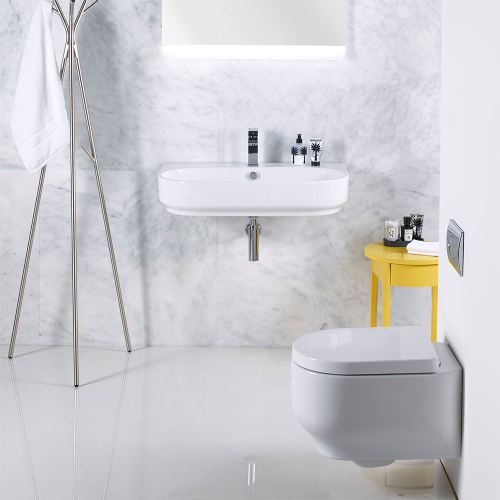 Roper Rhodes Edition 800mm Wall Mounted or Countertop Basin - E80SB profile large image view 2