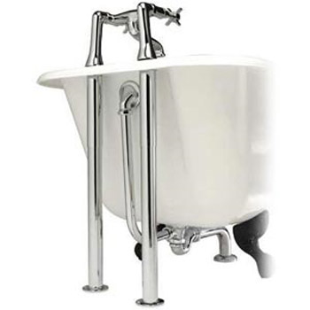Hudson Reed Luxury Roll Top Bath Pack - Chrome - EA368 Profile Large Image