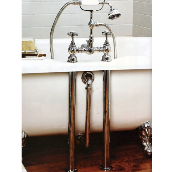 Hudson Reed Luxury Roll Top Bath Pack - Chrome - EA368 Feature Large Image