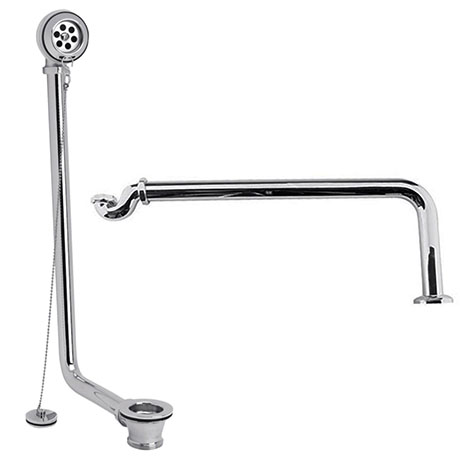 Hudson Reed Luxury Exposed Bath Drainage Kit - Chrome