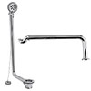 Hudson Reed Luxury Exposed Bath Drainage Kit - Chrome profile small image view 1