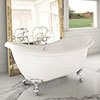Earl 1750 Double Ended Roll Top Slipper Bath + Chrome Leg Set Medium Image