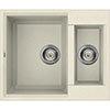 Reginox Easy 150 1.5 Bowl Granite Kitchen Sink - Cream profile small image view 1