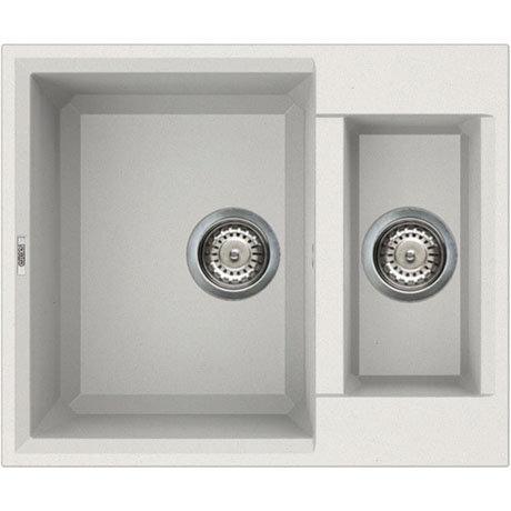 Reginox Easy 150 1.5 Bowl Granite Kitchen Sink - White
