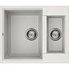 Reginox Easy 150 1.5 Bowl Granite Kitchen Sink - White profile small image view 1