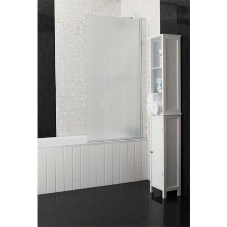 Roman - Embrace Frosted Bath Screen - 820mm - EB99S