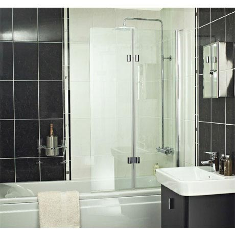 Roman - Embrace Folding Bath Screen - EBV13S
