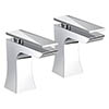 Bristan - Ebony Bath Taps - Chrome - EBY-3/4-C Medium Image