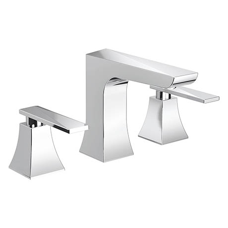 Bristan - Ebony 3 Hole Basin Mixer with Clicker Waste - Chrome - EBY-3HBAS-C