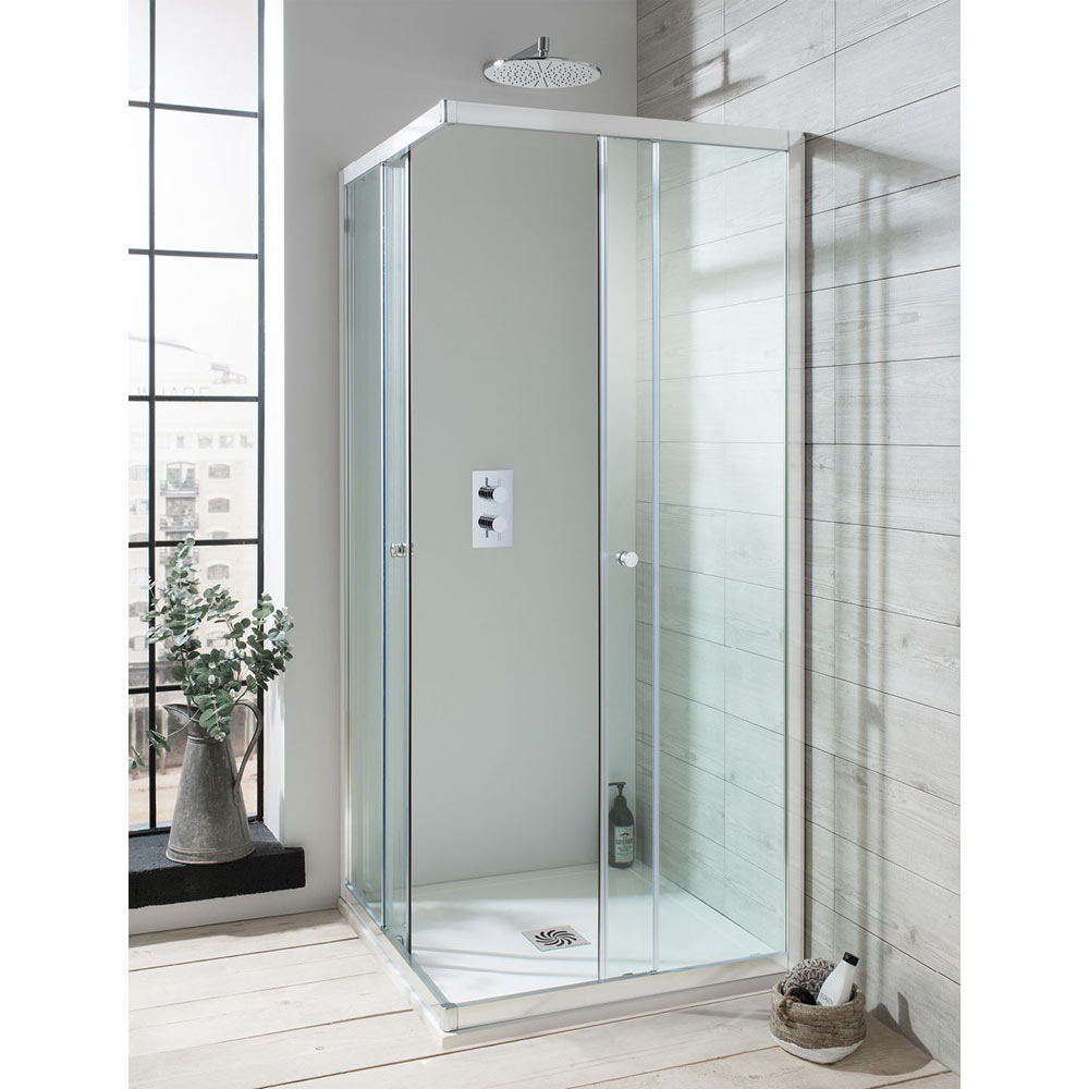 Crosswater Edge Corner Entry Shower Enclosure 3 Size Options At Victorian Plumbing Uk