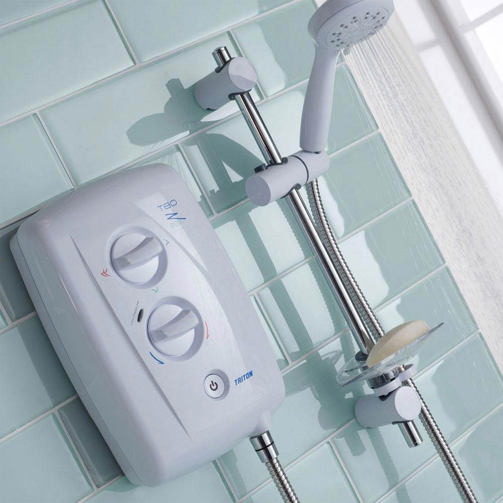 Triton T80Z 8.5kW Fast-Fit Eco Electric Shower - ECO8008ZFF profile large image view 2