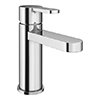 EcoDelux Round Water Saving Mono Basin Mixer Tap with Waste profile small image view 1