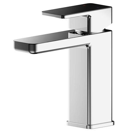 EcoDelux Square Water Saving Mono Basin Mixer Tap with Waste