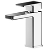 EcoDelux Square Water Saving Mono Basin Mixer Tap with Waste profile small image view 1