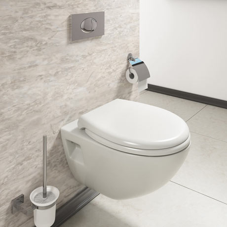 Edmonton Wall Hung Pan with Dual Flush Concealed WC Cistern + Wall Hung Frame