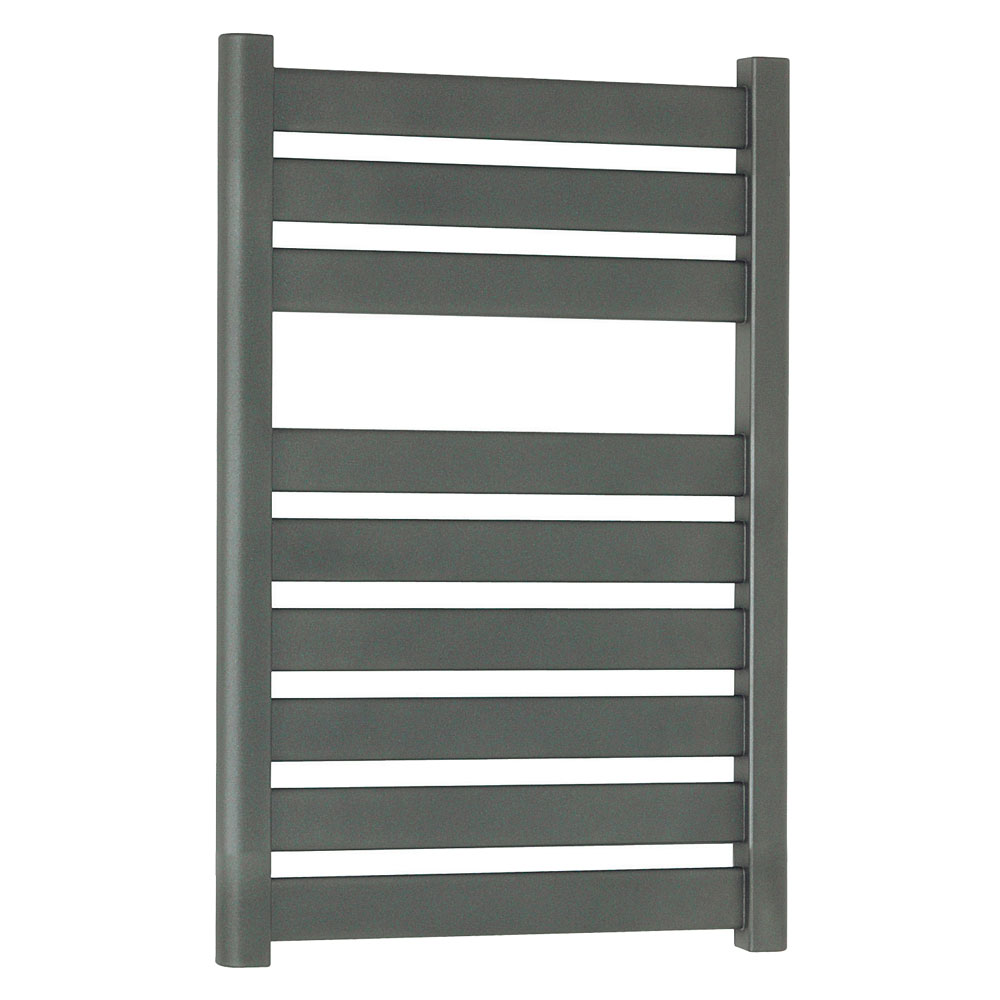 Bauhaus - Edge Flat Panel Towel Rail - Anthracite - 3 Size Options profile large image view 1