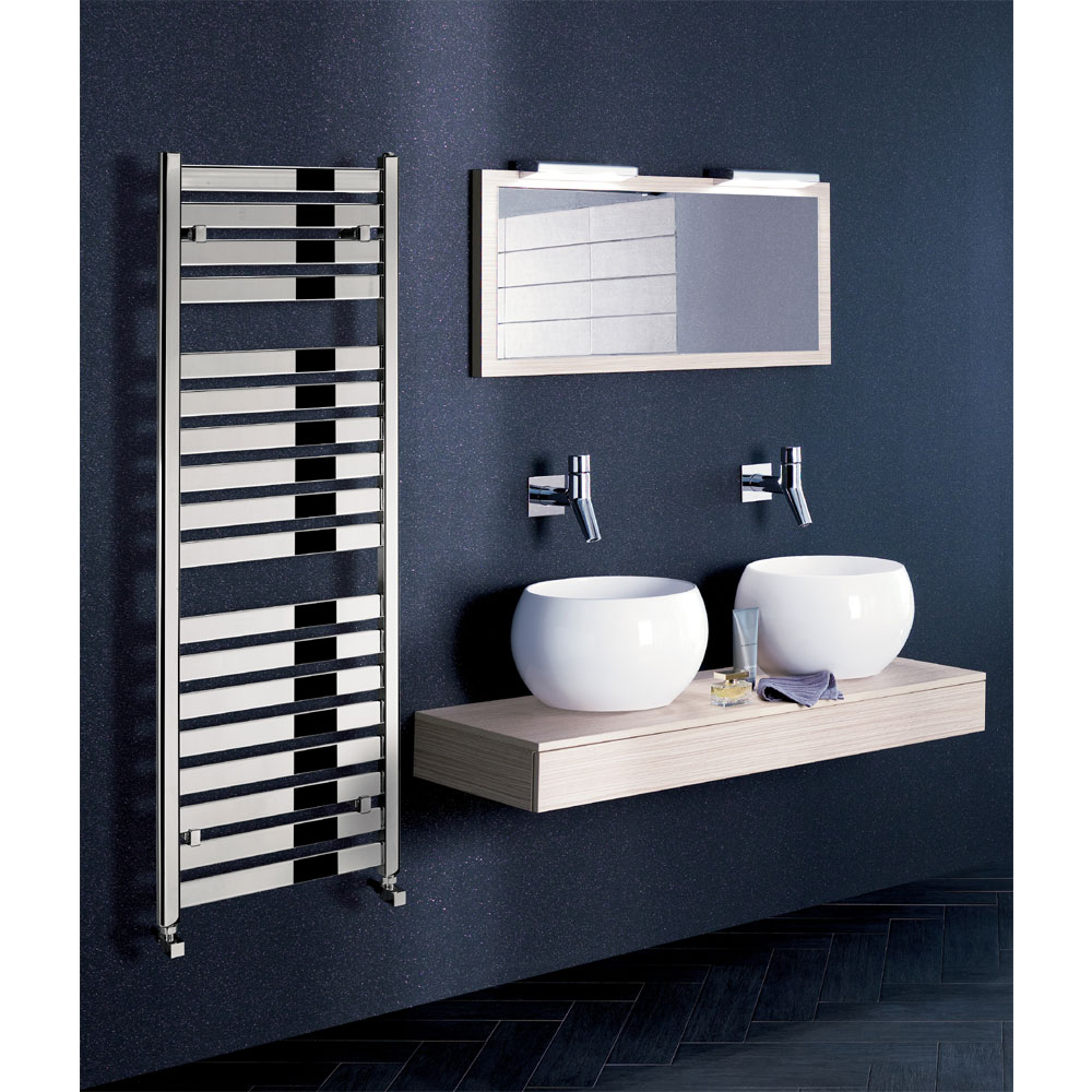 Bauhaus - Edge Flat Panel Towel Rail - Anthracite - 3 Size Options profile large image view 3