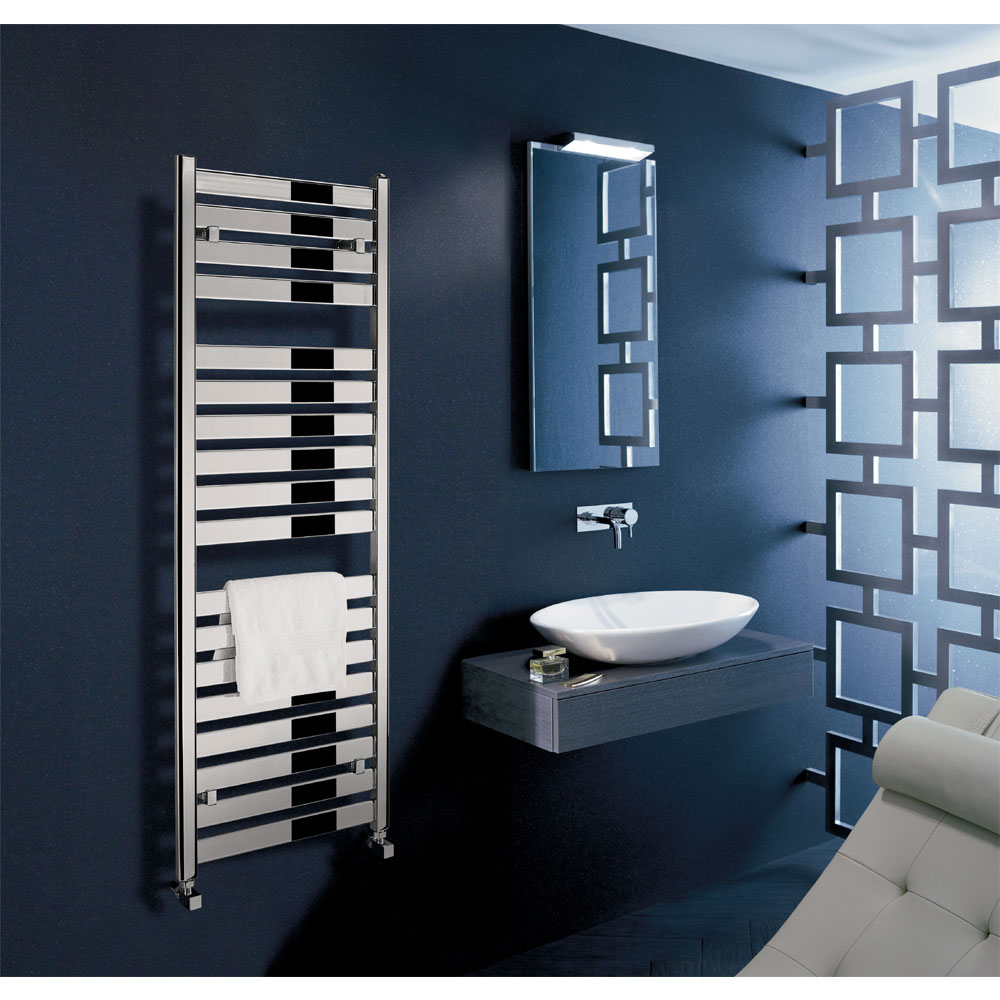 Bauhaus - Edge Flat Panel Towel Rail - Anthracite - 3 Size Options profile large image view 4
