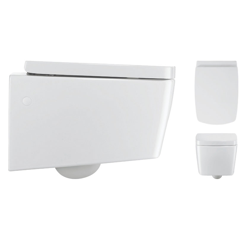 Bauhaus - Touch Wall Hung Pan with Soft Close Seat profile large image view 2