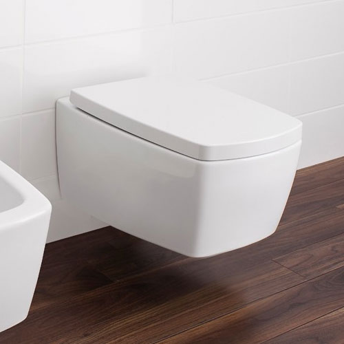 Bauhaus - Touch Wall Hung Pan with Soft Close Seat profile large image view 4