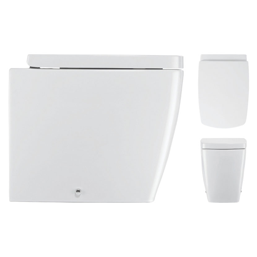 Bauhaus - Touch Back to Wall Pan with Soft Close Seat Profile Large Image