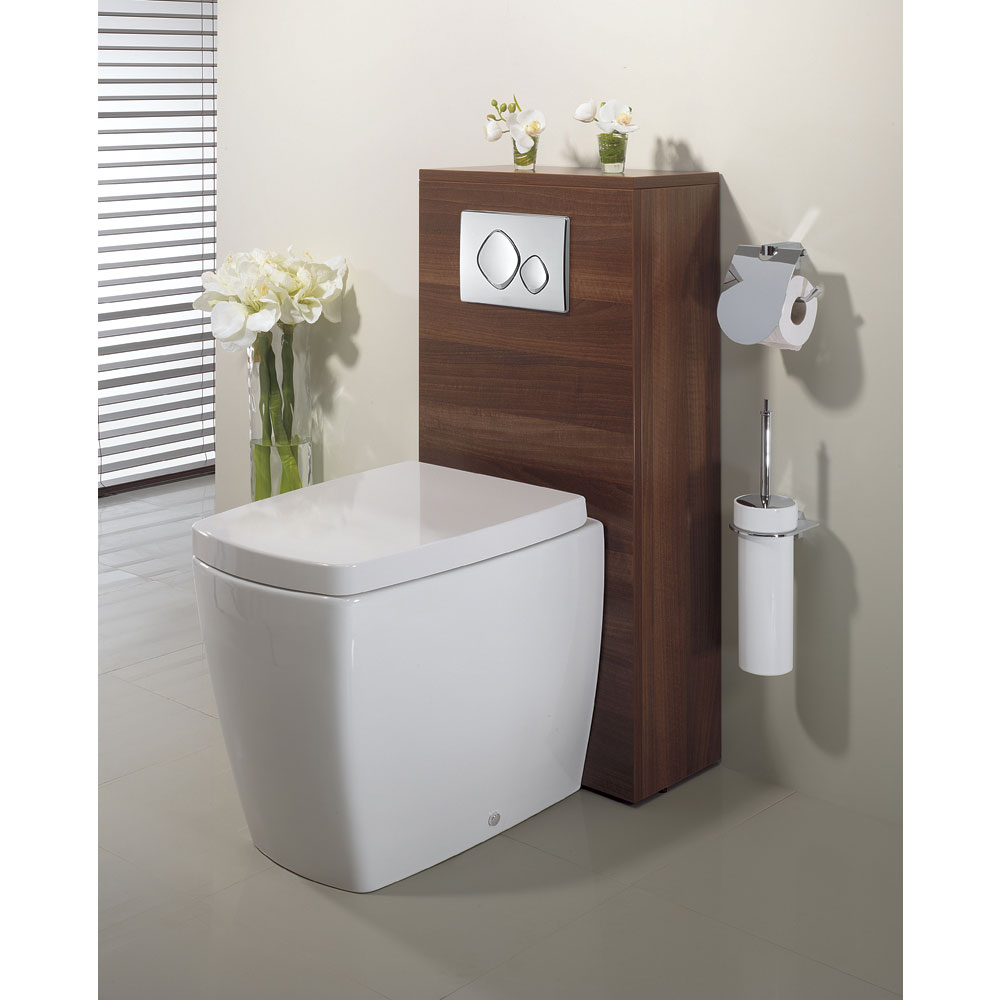 Bauhaus - Touch Back to Wall Pan with Soft Close Seat Feature Large Image