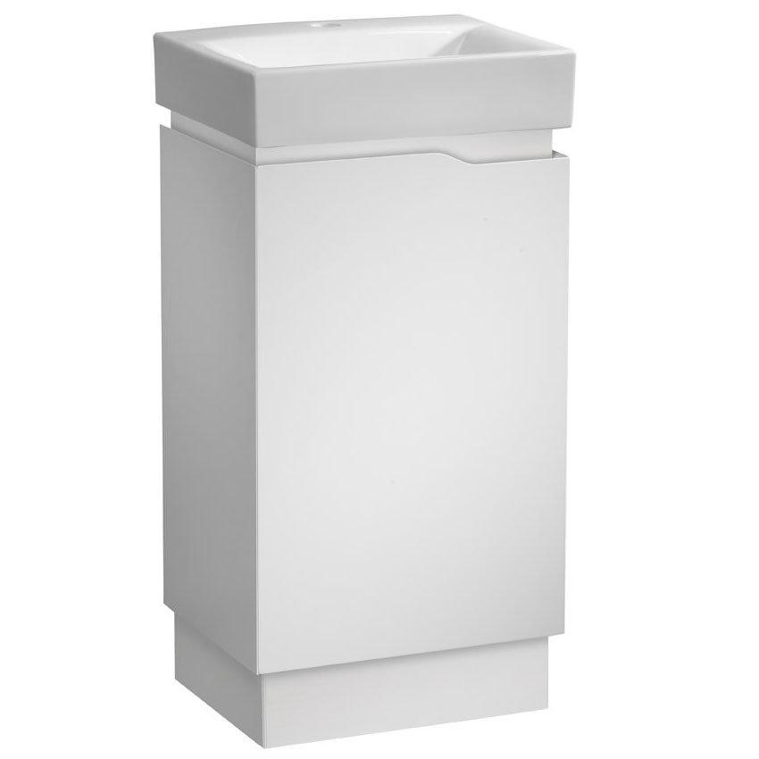 Tavistock Edge 450mm Freestanding Unit & Basin - Gloss White Large Image