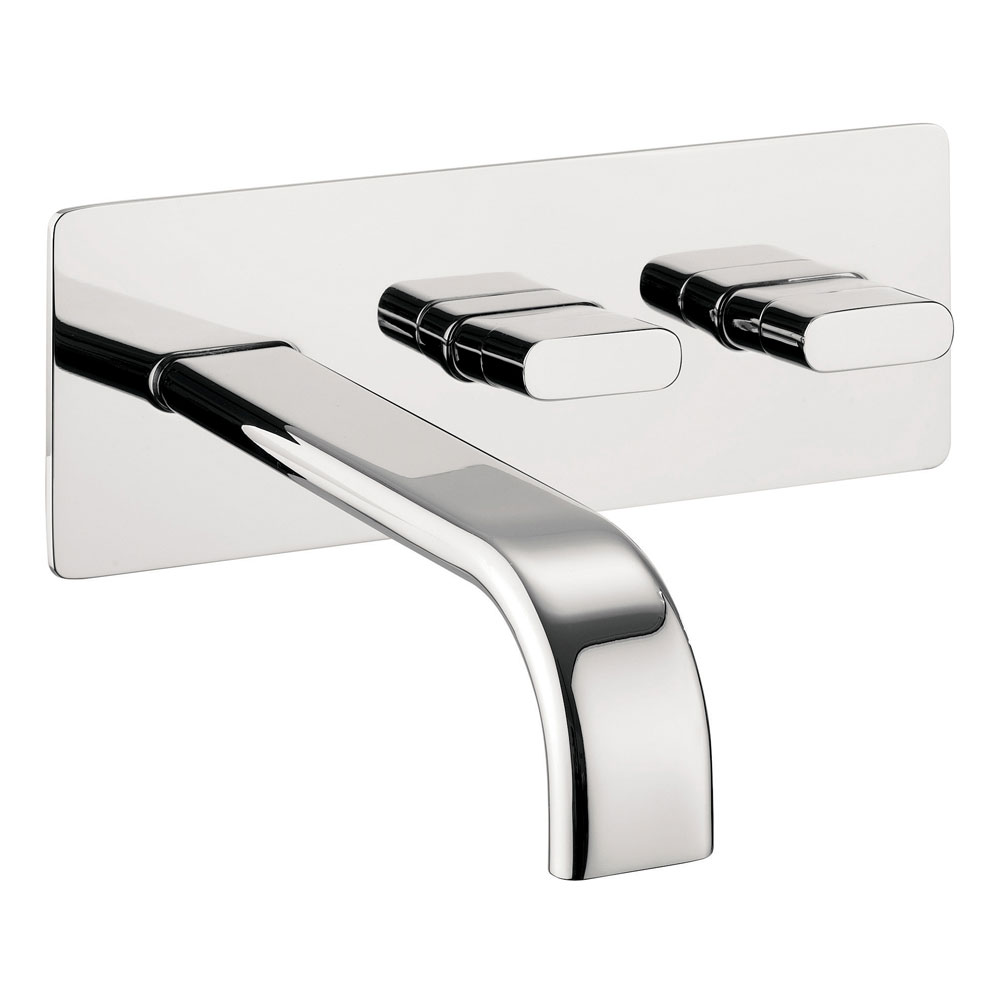 Crosswater - Edge Wall Mounted 2 Hole Set Basin Mixer - EE121WC profile large image view 1