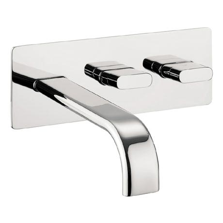 Crosswater - Edge Wall Mounted 2 Hole Set Basin Mixer - EE121WC