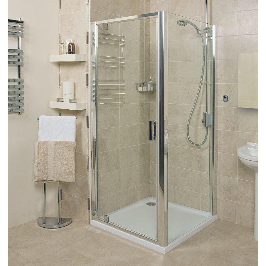 Roman - Embrace Pivot Shower Door - 3 Size Options Large Image