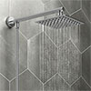 Milan 200mm Slim Rainfall Shower Head with 1.25m Flexible Hose profile small image view 1
