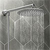Cruze 200mm Slim Rainfall Shower Head with 1.25m Flexible Hose profile small image view 1