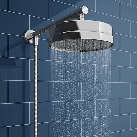 Chatsworth 200mm Rainfall Shower Head with 1.25m Flexible Hose