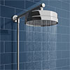 Chatsworth 200mm Rainfall Shower Head with 1.25m Flexible Hose profile small image view 1