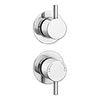 Cruze Concealed Individual Stop Tap + Thermostatic Control Shower Valve profile small image view 1