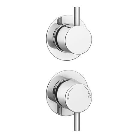 Cruze Concealed Individual Diverter + Thermostatic Control Shower Valve