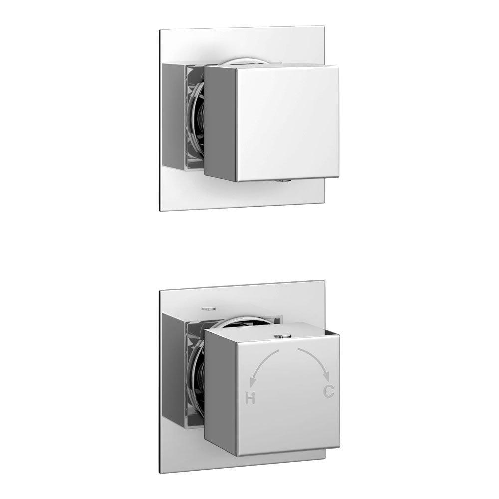 Milan Concealed Individual Diverter + Thermostatic Control Shower Valve