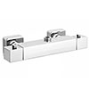 Milan Square Top Outlet Thermostatic Bar Shower Valve - Chrome profile small image view 1