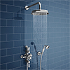 Chatsworth 1928 Triple Exposed Thermostatic Shower (inc. Valve, Elbow, Handset + Fixed Shower Head) profile small image view 1