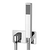 Milan Concealed Wall Outlet Elbow with Shower Handset profile small image view 1