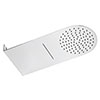 Cruze Round Flat Dual Fixed Shower Head (Waterfall + Rainfall) profile small image view 1