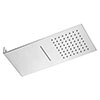 Milan Square Flat Dual Fixed Shower Head (Waterfall + Rainfall) profile small image view 1
