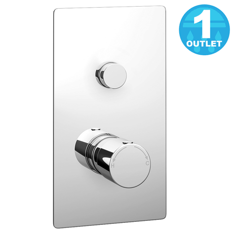 Cruze Twin Modern Round Push-Button Concealed Shower Valve