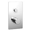 Cruze Twin Modern Round Push-Button Concealed Shower Valve profile small image view 1