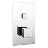 Milan Twin Modern Square Push-Button Concealed Shower Valve profile small image view 1