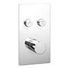Cruze Twin Modern Round Push-Button Shower Valve with 2 Outlets profile small image view 1