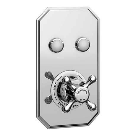 Chatsworth 1928 Traditional Two Outlet Push-Button Shower Valve