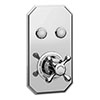 Chatsworth 1928 Traditional Two Outlet Push-Button Shower Valve profile small image view 1